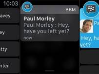 BlackBerry Messenger получи версия за Apple Watch