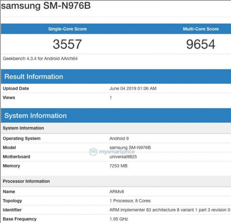 Samsung Galaxy Note10 и Galaxy A90 се появиха в Geekbench