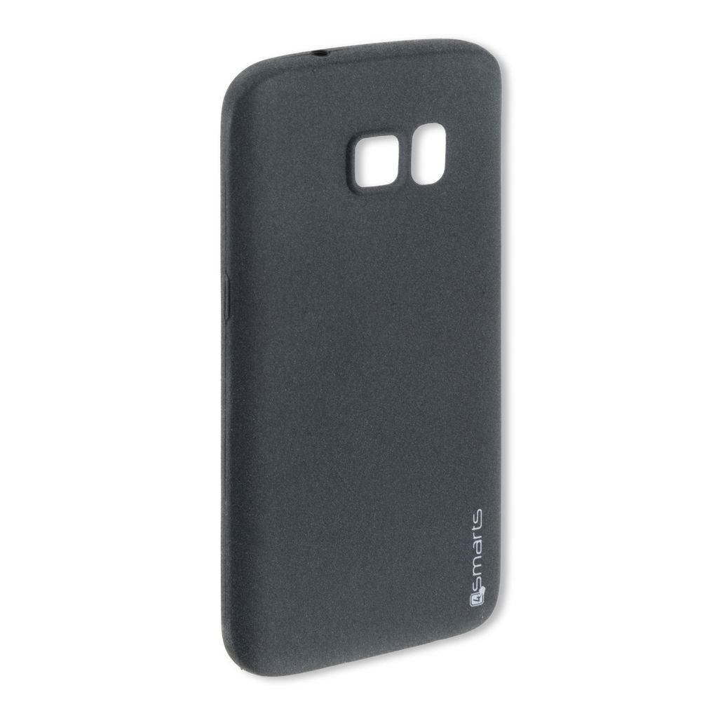 4smarts 4smarts Ultimag Soft Touch Cover Sandburst Case - термополиуретанов удароустойчив кейс за Samsung Galaxy S7 edge (черен)