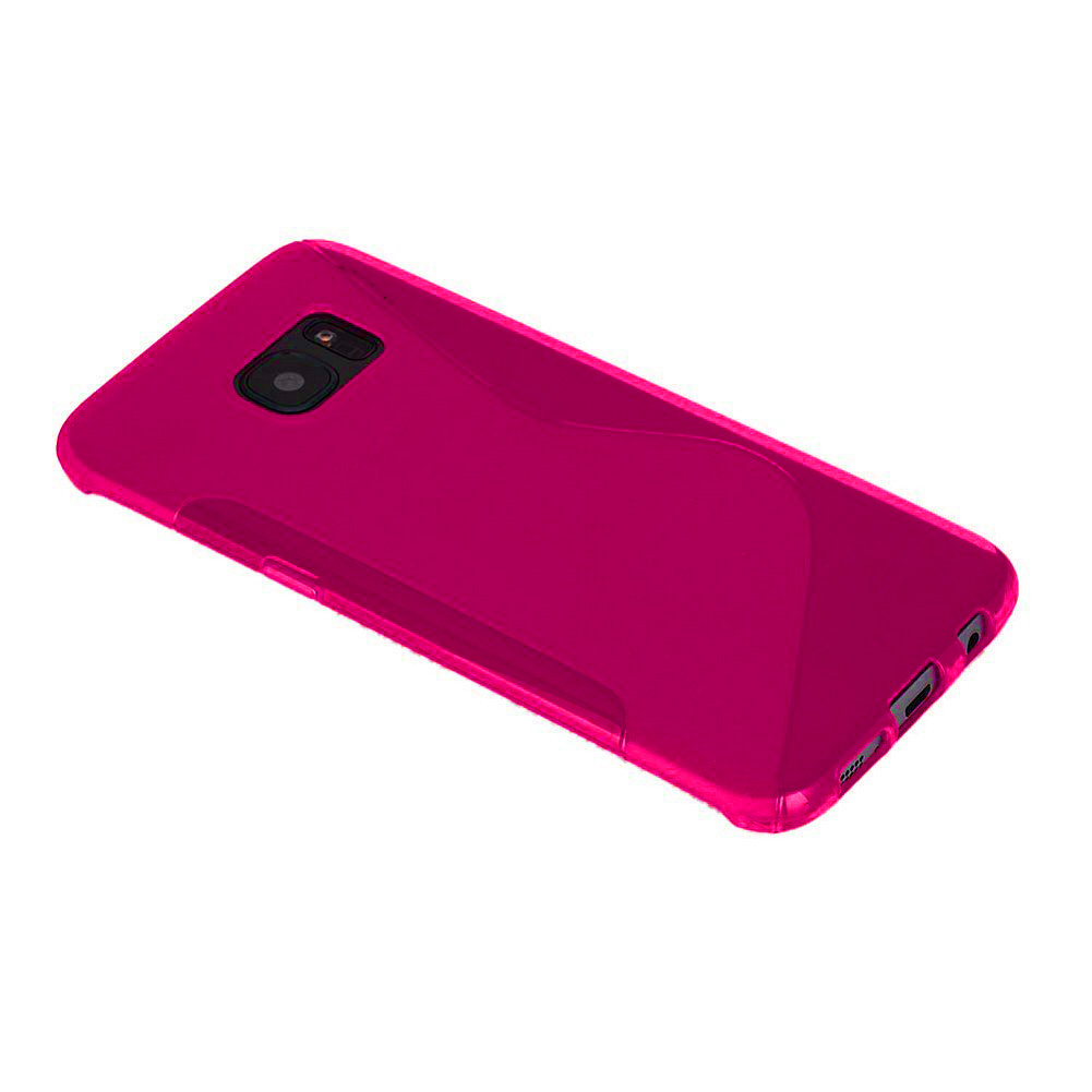 Други S-Line Cover Case - силиконов (TPU) калъф за Samsung Galaxy S7 Edge (розов)