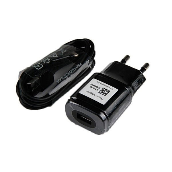 LG LG Travel Charger MCS-04ED 1800mA - захранване и microUSB кабел за LG устройства с microUSB (черен) (bulk)
