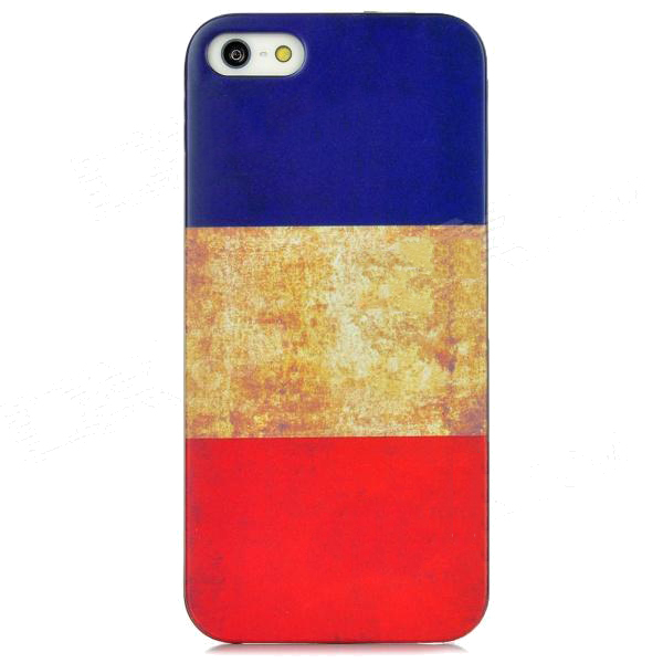 Други Retro Style French Flag - поликарбонатов кейс за iPhone 5, iPhone 5S, iPhone SE