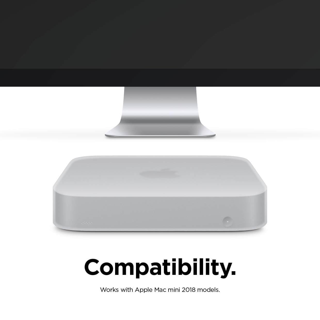Elago Elago Mac Mini Silicone Case - силиконов калъф за Apple Mac Mini (бял)