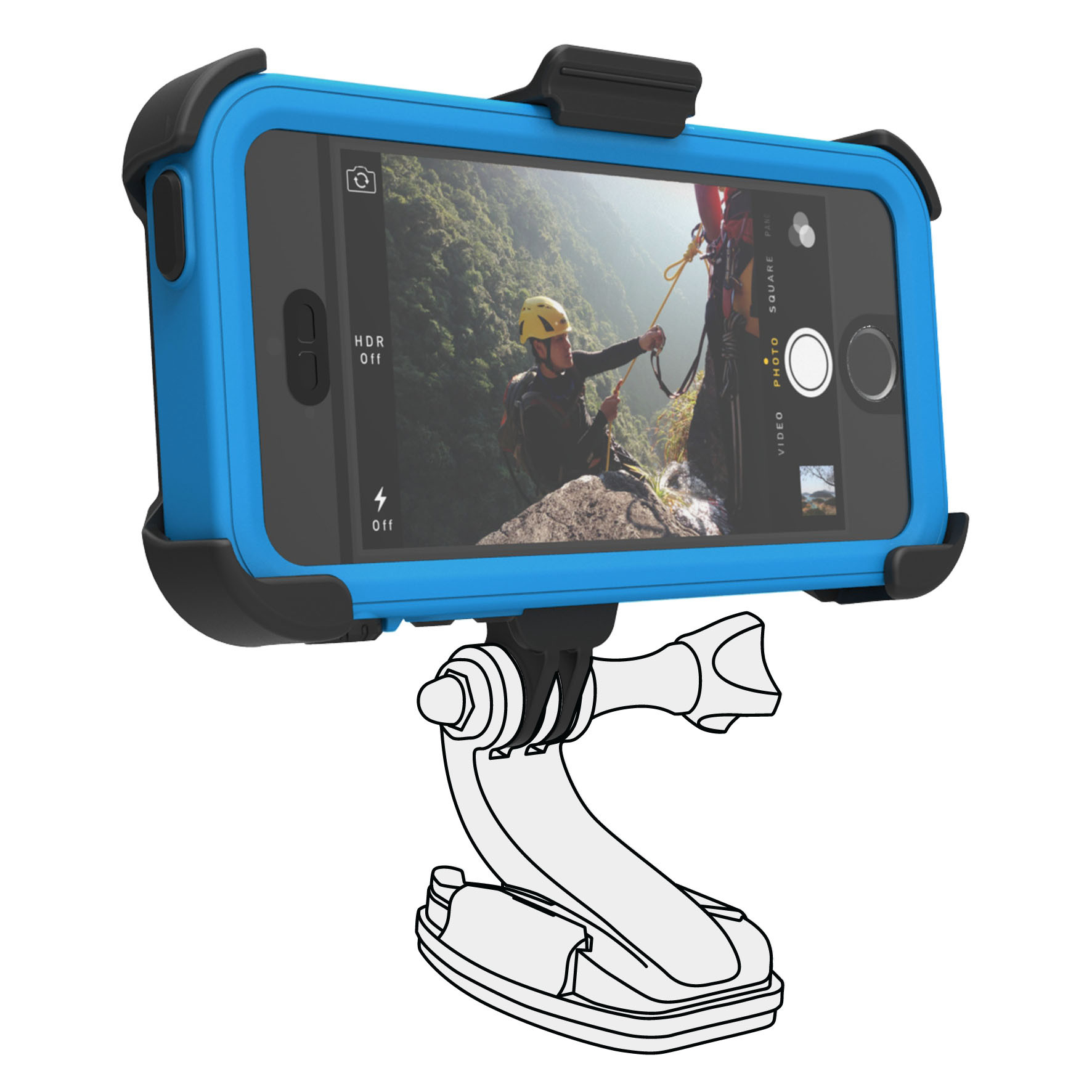 Catalyst Catalyst Pro adapter - преходник към различни поставки за Catalyst Waterproof case за iPhone 5S, iPhone 5, iPhone SE (черен)