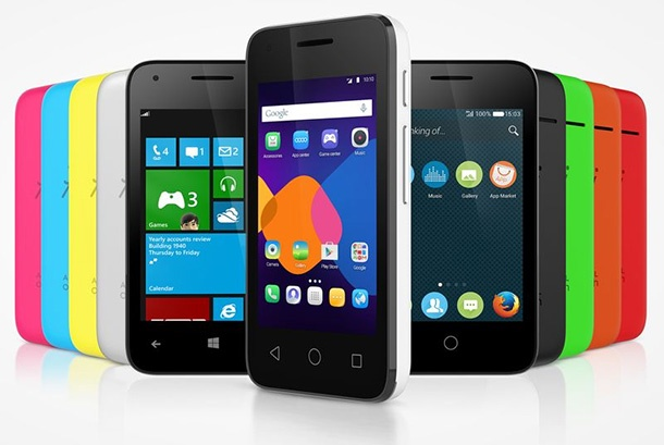 Alcatel OneTouch Pixi 3 може да работи с Android, Firefox OS или Windows Phone