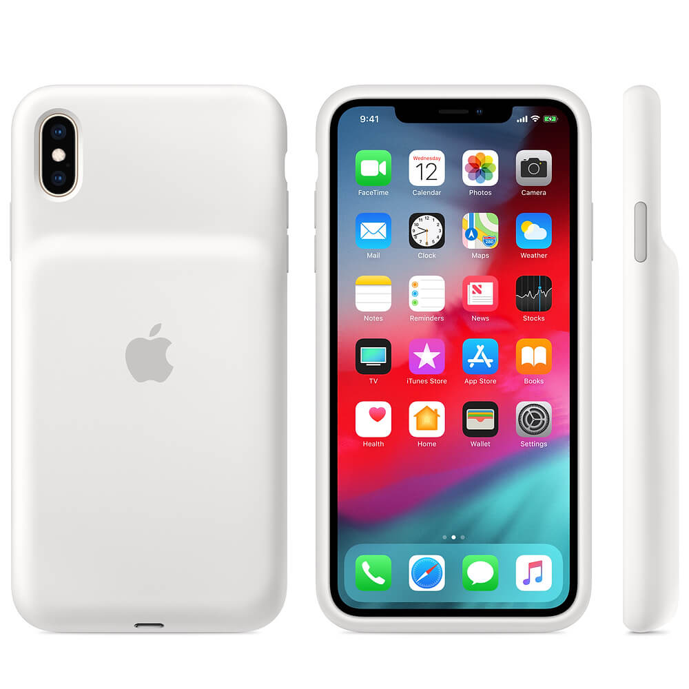 Apple Apple Smart Battery Case - оригинален кейс с вградена батерия за iPhone XS Max (бял)